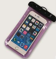 """НАДЕЖНЫЙ Универсальный водонепроницаемый чехол для смартфона, телефона или iphone, 4.0""""-5.5"""" фиолетовый"""