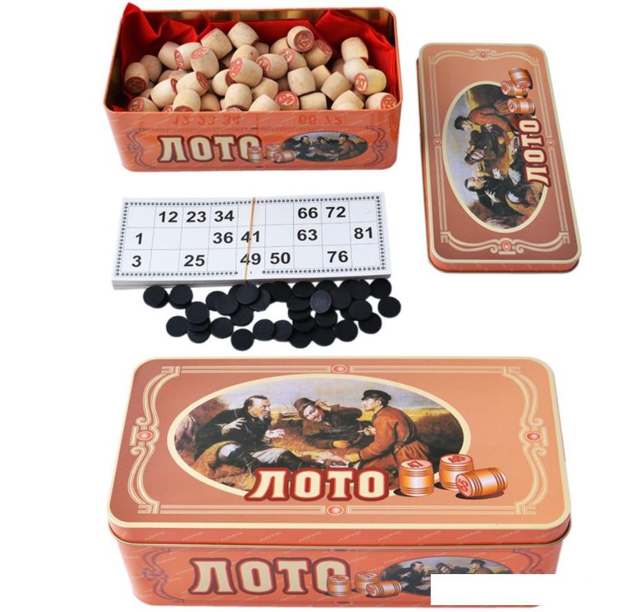 Лото в жестяной коробке Т9001