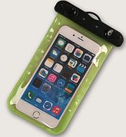 """НАДЕЖНЫЙ Универсальный водонепроницаемый чехол для смартфона, телефона или iphone, 4.0""""-5.5"""" зеленый"""