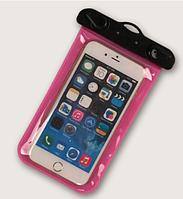 """НАДЕЖНЫЙ Универсальный водонепроницаемый чехол для смартфона, телефона или iphone, 4.0""""-5.5"""" розовый"""