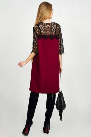 Нарядное платье женское Марьяна  бордовый цвет размер 42,44,46,48 , фото 2
