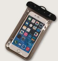 """НАДЕЖНЫЙ Универсальный водонепроницаемый чехол для смартфона, телефона или iphone, 4.0""""-5.5"""" черный"""