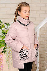 Детская демисезонная куртка Мэри, беж, р.122-152, фото 2