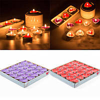 Набор свечей в форме сердца (25 шт в наборе)