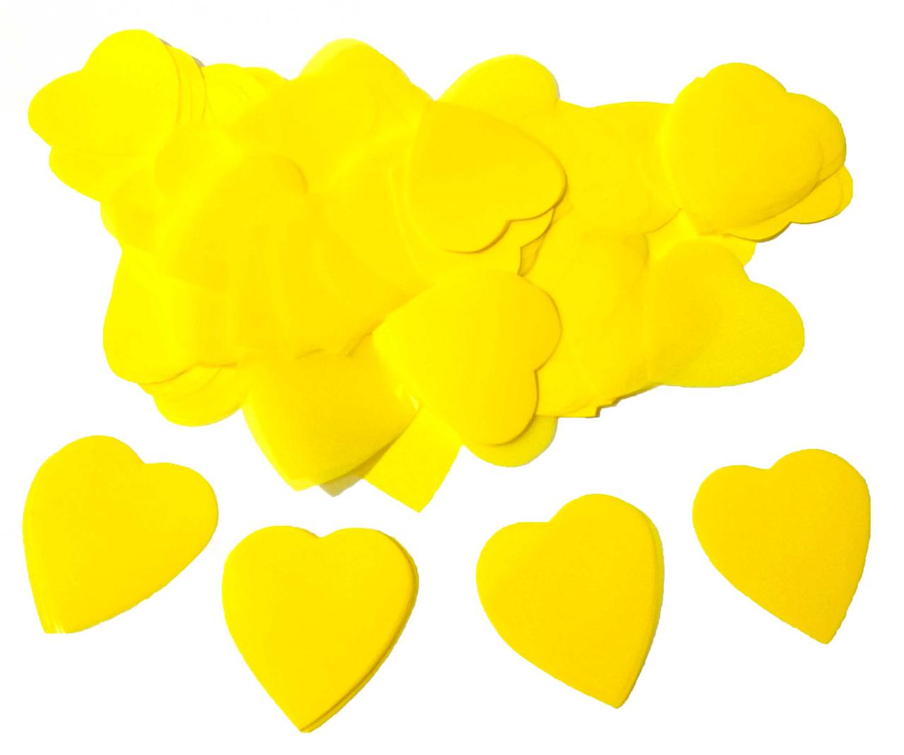 Конфетти сердечки жёлтые.Размер: 35мм. Вес:50гр.