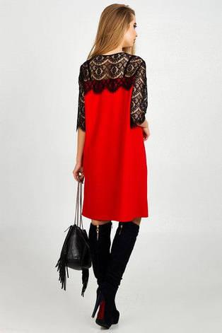 Нарядное платье женское Марьяна  красный цвет размер 42,44,46,48 , фото 2