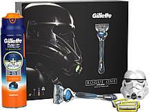 """Подарочный набор для мужчин """" GILLETTE FUSION PROSHIELD"""" (4 кассеты, станок и гель для бритья)"""