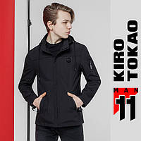 11 Kiro Tokao | Мужская ветровка весенне-осенняя 2059 черная, фото 1
