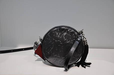 Сумка круг кожаная 0159-1046, фото 2