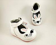 Обувь для девочек, детские туфли зайчики белые JongGolf