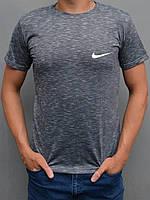 Стильная мужская футболка Nike (Найк) - размеры 44-54, серая