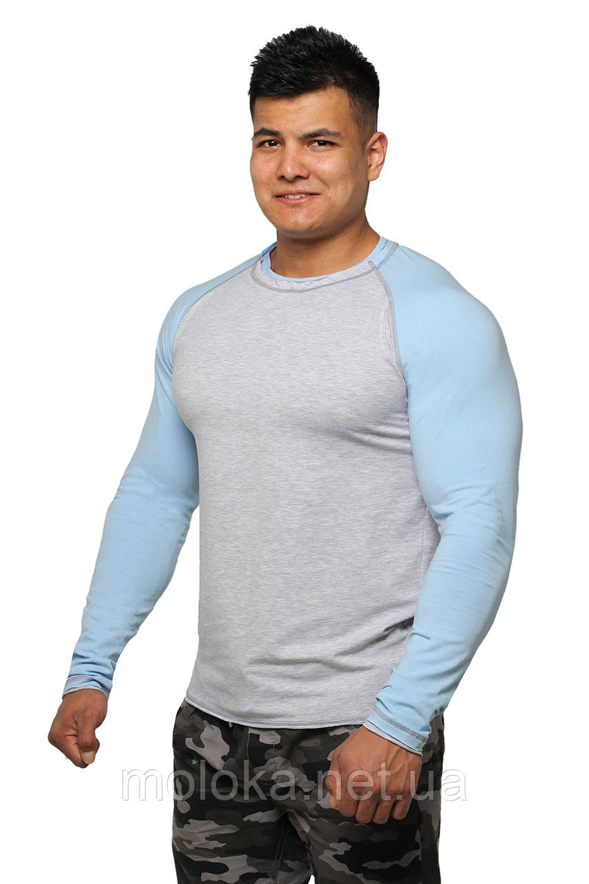 Реглан Long Sleeve BERSERK grey/light blue