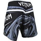 Шорты Venum Sharp 2.0 Fightshorts Black Grey, фото 4