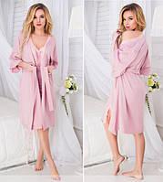 Женский домашний комплект-пижама (халат+ночнушка). 3 цвета! d46dba9efaea8