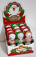 Шоколадное яйцо пластиковое Merry Christmas 24 шт 15 гр