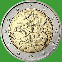 Италия 2 евро 2008 г. 60 летие Декларации прав человека. UNC