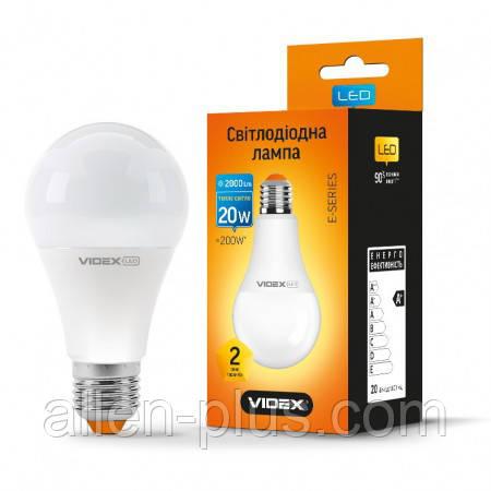 LED лампа VIDEX A70e 20W E27 3000K 220V (гарантия 2 года)