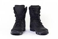 Берцы водостойкие мужские женские облегченные кожаные 7д черные, фото 1