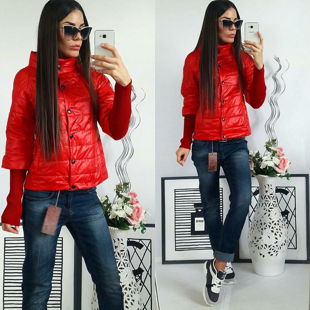 Куртка Давяз, модель 205, цвет - красный 44 46