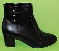 Весенние женские кожаные ботинки на каблуке, женская обувь кожа от производителя модель В1662, фото 1