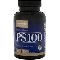 Jarrow Formulas, PS 100, Фосфатидилсерин, 100 мг, 120 капсул