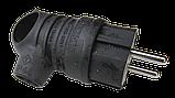 Вилка каучуковая угловая 220В 16А  BEMIS (BK1-1402-2021), фото 2