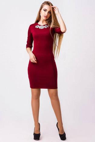 Нарядное платье женское Августина трикотаж  размер 42,44,46, фото 2
