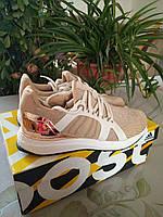 Женские кроссовки Adidas Ultra Boost золотого цвета | Adidas by stella mccartney
