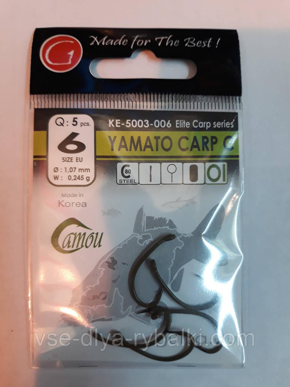 Крючки Gurza yamato carp c № 6