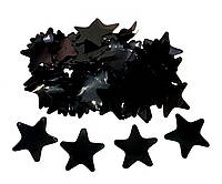 Конфетти звёздочки чёрный . Вес:500гр.