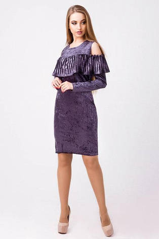 Нарядное платье женское Вика велюр  размер 44,46, фото 2