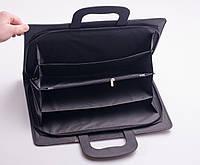 Папка-портфель на молнии с выдвижными ручками, кожезаменитель, А4
