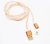 Магнитный кабель micro USB (тканевый)