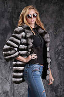 Шуба полушубок из шиншиллы Natural chinchilla fur coats jackets, фото 1