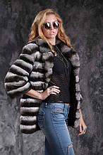Шуба кожушок з шиншили Natural chinchilla fur coats jackets