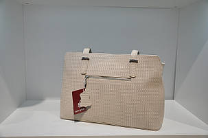 Кожаная сумка бежевая 0185-1060, фото 2