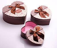 Коробка подарочная 3 в 1: 21.5х18х9 см, 18х15х7.5 см, 15.5х13х6 см, в ассортименте , фото 1