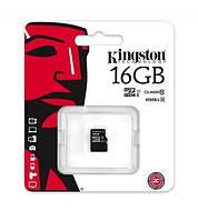 Карта памяти Kingston microSDHC 16 Gb UHS-I  U1 (R45, W10MB/s)