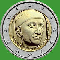 Италия 2 евро 2013 г. 700 со дня рождения Джованни Боккаччо. UNC