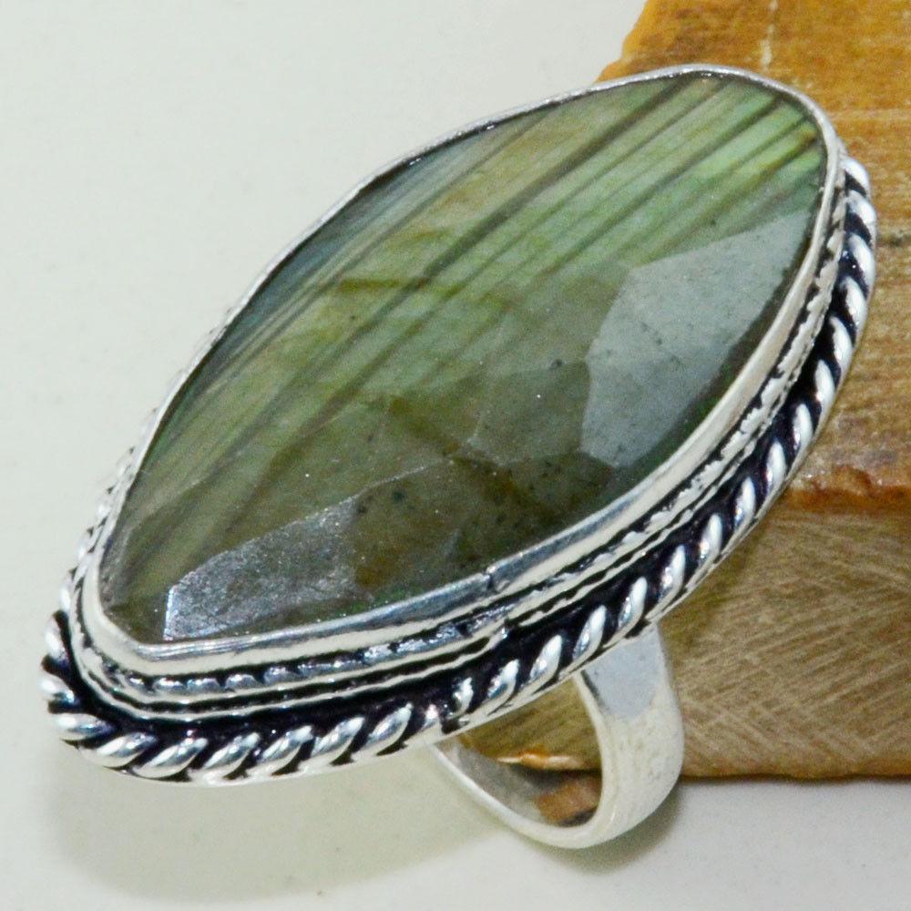 Кільце низький лабрадор в сріблі. Кільце з лабрадором 17 розмір Індія