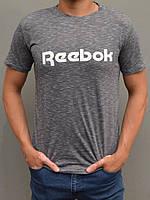 Чоловіча спортивна футболка Reebok (Рібок) | розміри 44-54, сіра