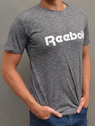 Чоловіча спортивна футболка Reebok (Рібок) | розміри 44-54, сіра, фото 2