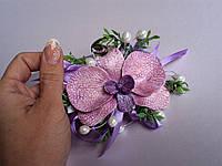 Бутоньерки для свидетелей, бутоньерки для невесты и жениха, бутоньерки с орхидеей.