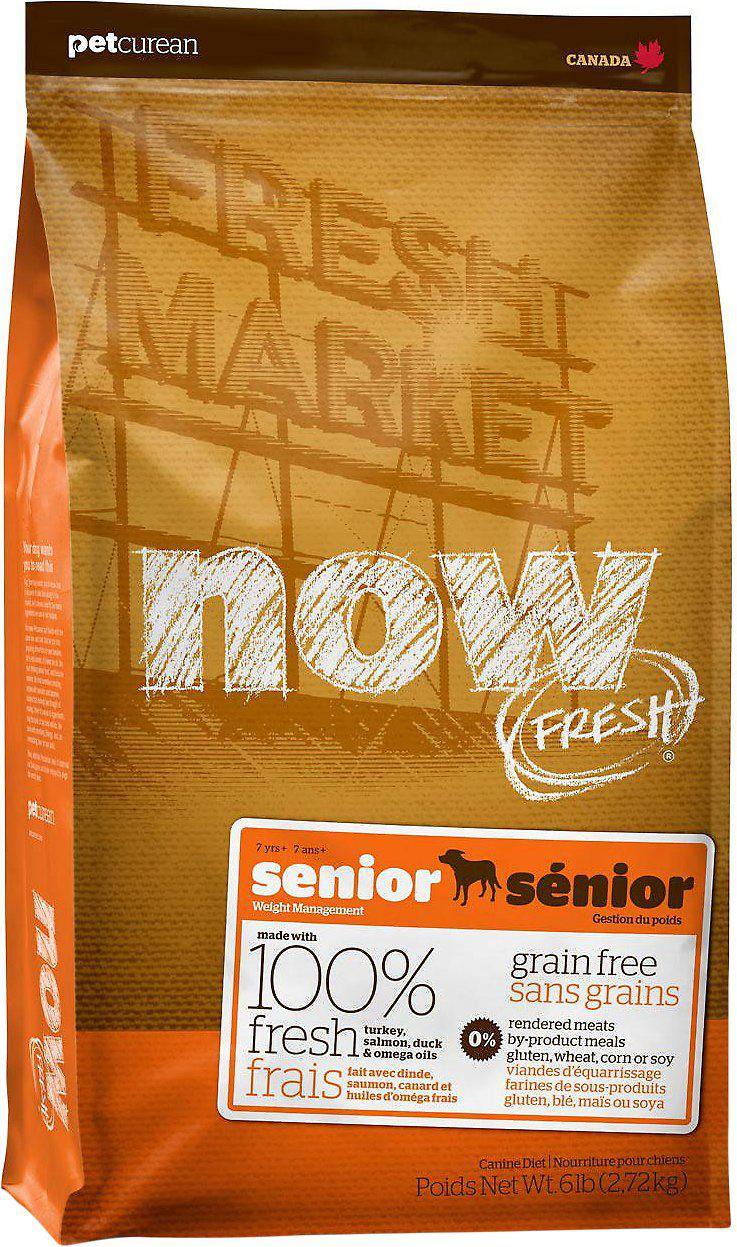 Now Fresh Grain Free Senior & Weight Management Dog Turkey, Duck and Vegetables беззерновой корм для контроля веса