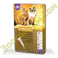 АДВОКАТ — для котов 4-8кг (уп. 3 пип, цена за 1 шт) Байер. Германия.