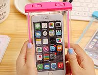 """НАДЕЖНЫЙ Флуорисцентный водонепроницаемый чехол для смартфона, телефона или iphone, до 6""""розовый"""