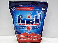 Таблетки для посудомойки Finish Powerball All in 1 Max 65 штук
