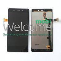 Модуль FLY IQ453 Quad Luminor black (оригинал) дисплей экран, сенсор тач скрин для телефона смартфона