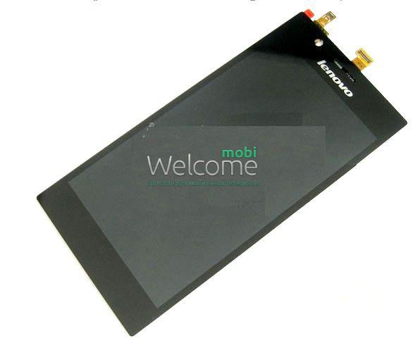 Модуль Lenovo K900 black (оригинал) дисплей экран, сенсор тач скрин дл