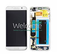 Модуль Samsung SM-G930F Galaxy S7 white and frame service (оригинал) дисплей экран, сенсор тач скрин для телефона смартфона